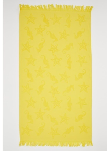 DeFacto Deniz Atı Desenli Peştemal Plaj Havlusu Sarı
